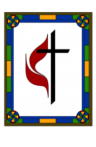 Church cross design digitized with color
